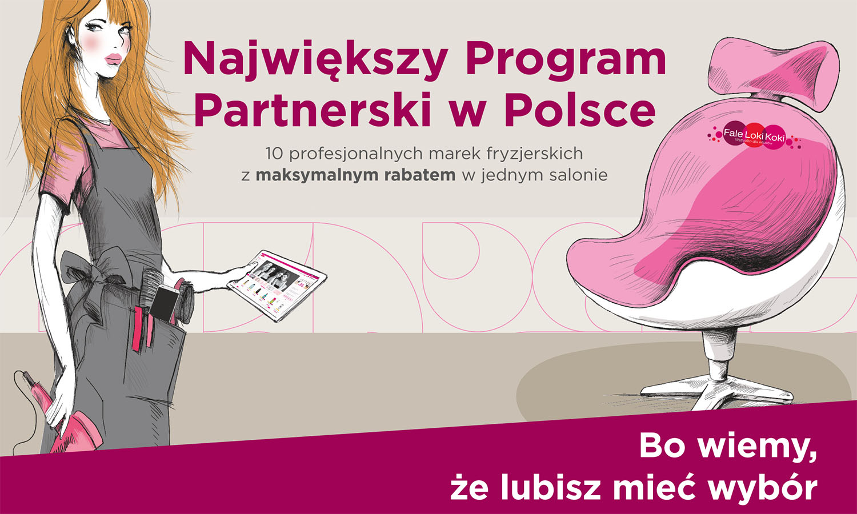 Największy Program Partnerski w Polsce. 10 profesjonalnych marek fryzjerskich z maksymalnym rabatem w jednym salonie. Bo wiemy, że lubisz mieć wybór