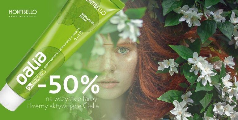 50% rabatu na kosmetyki Oalia