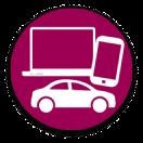 Narzędzia do pracy (laptop, telefon)